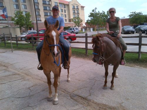 Mike horseriding