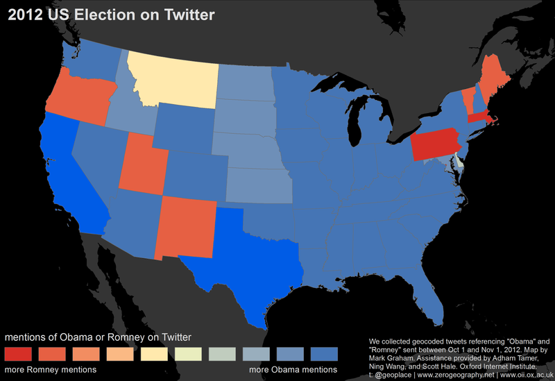 US election Twitter map