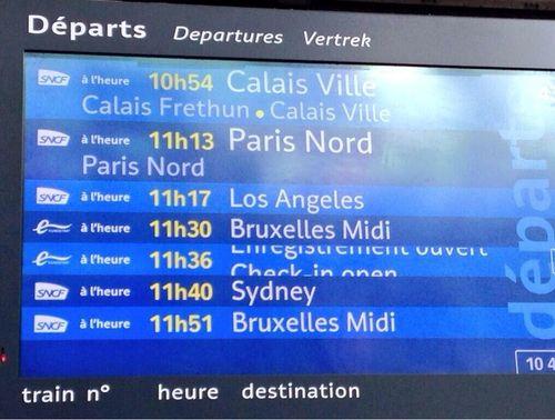 Affichage SNCF